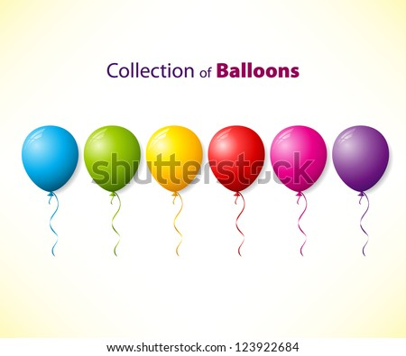 Collection of color balloons
