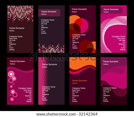 Collection of Colorful Business Cards