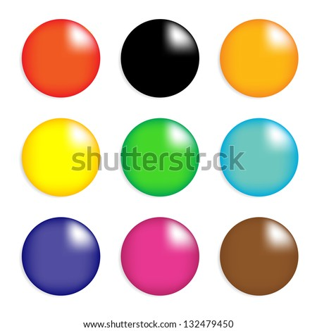 collection of colorful glossy
