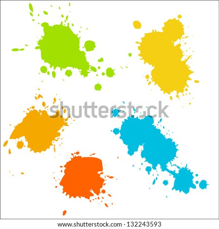 collection of colorful paint