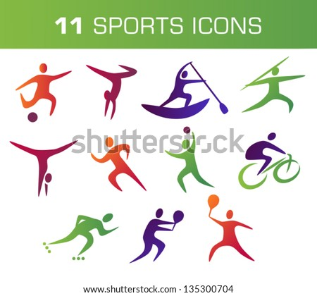 Collection Of Colorful Sports Icons