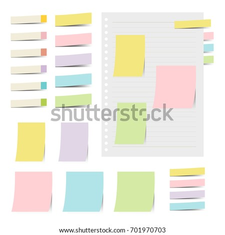 collection of colorful sticky notes / vector eps 10 illustration