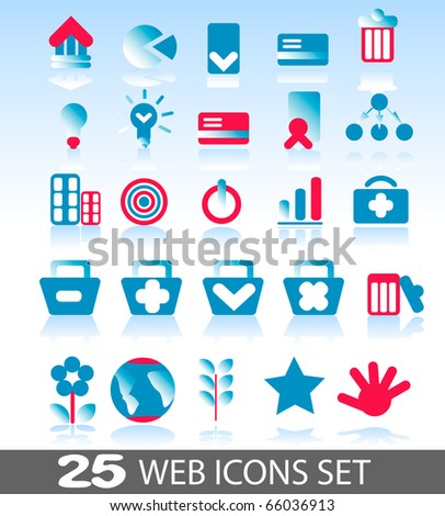 collection of colorful web icons for your web page