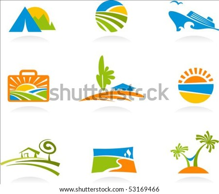 collection of colourful tourism
