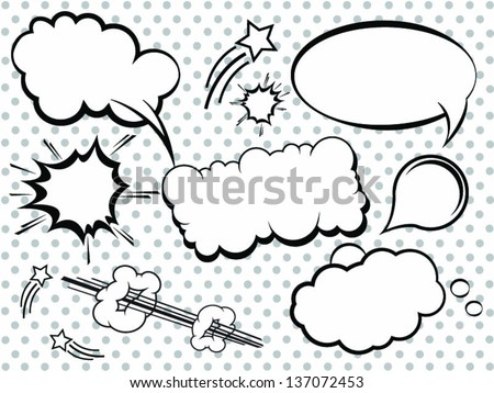 Collection of Comic Style Bubbles in Vector Format