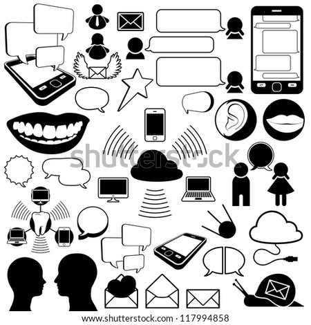Collection of communications icons