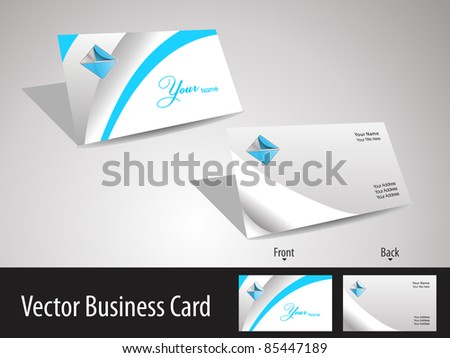Professional Blue Wave Business Card Template Download Free Vector
