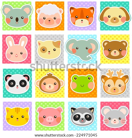 collection of cute animals over