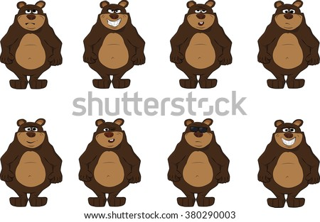 collection of cute bear