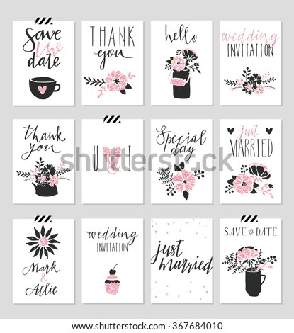 collection of 12 cute card