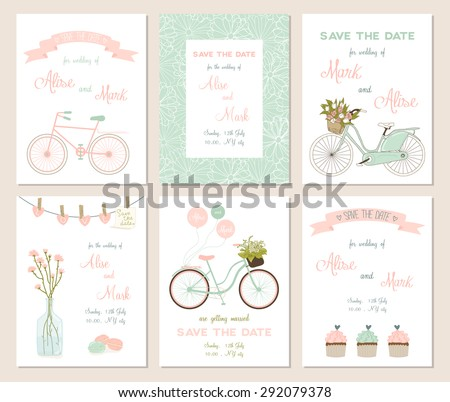 collection of 6 cute card