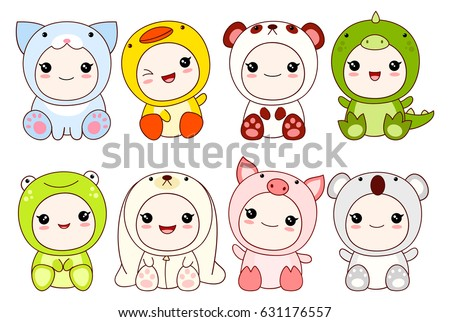 collection of cute children in