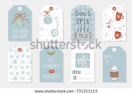 Printable Holiday Gift Tags Download Free Vector Art Stock