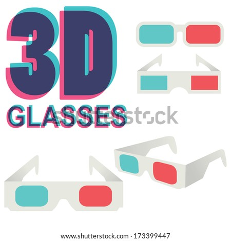 collection of 3d glasses