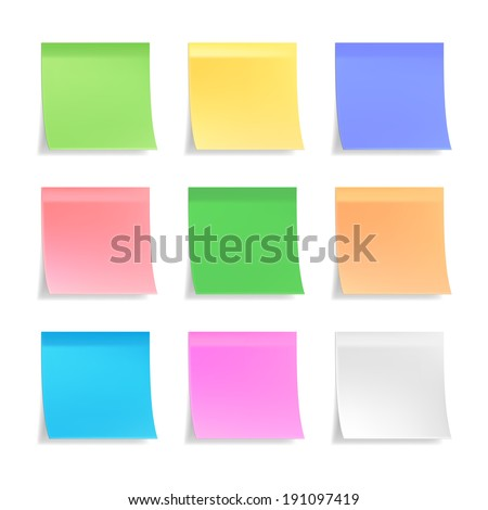 collection of 3d vector sticky