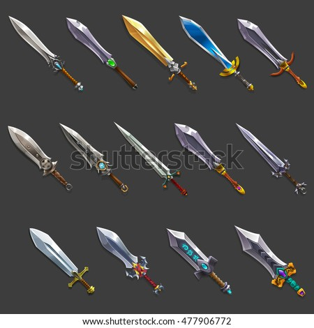 collection of decoration weapon
