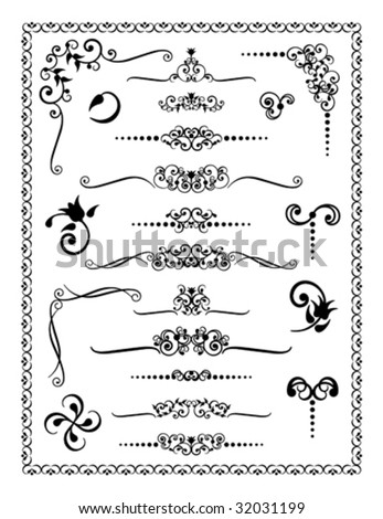 Collection #2 of decorative borders, dividers and ornaments.