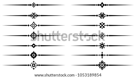 Fancy line ornament vectors download free vector art stock collection of decorative line elements beautiful different ornamental rules for elegant design border and page thecheapjerseys Images