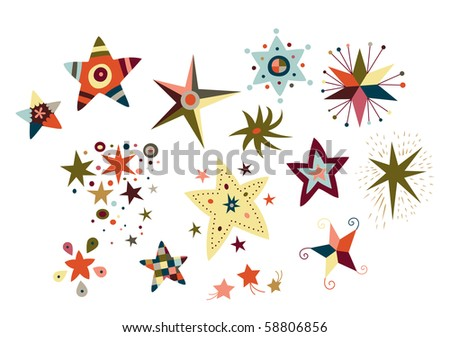 Collection of decorative stars.