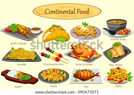 Free chicken dinner vector download free vector art stock collection of delicious continental food in vector forumfinder Choice Image