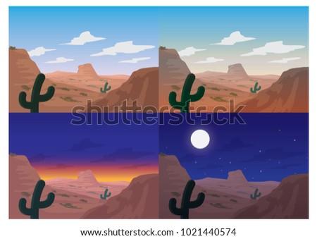 collection of desert landscape
