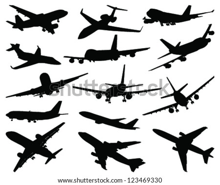 stock-vector-collection-of-different-airplane-silhouettes-vector
