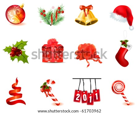 Collection of different christmas icons