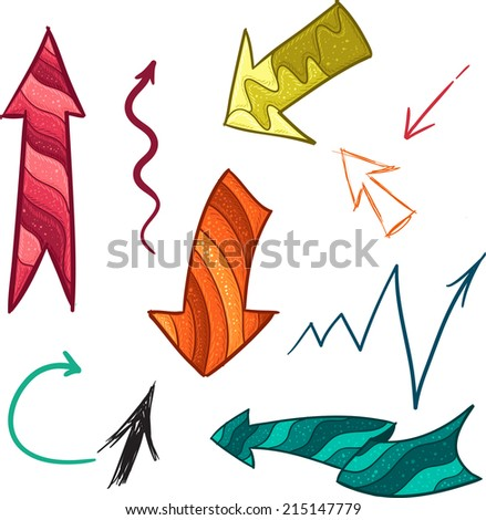 Collection of different  color arrows for your design