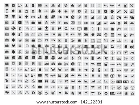 collection of different icons