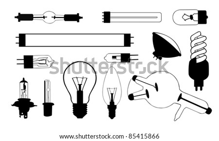collection of different light bulb illustrations