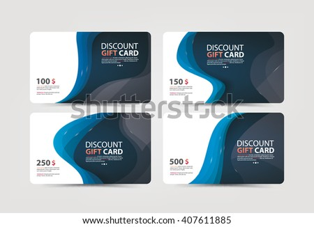 Collection of discount, business and gift cards. Vector illustration