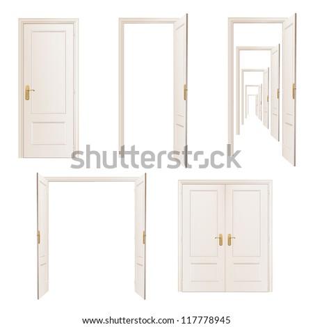 Collection of doors. Vector design.