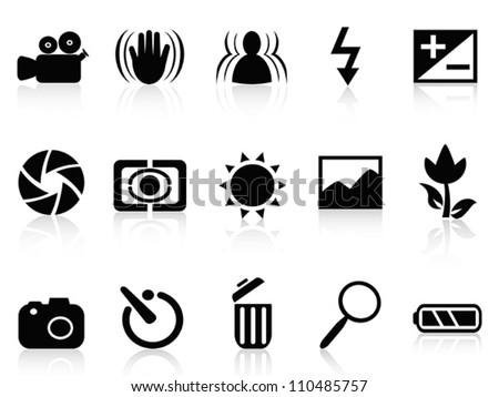 collection of dslr camera symbol