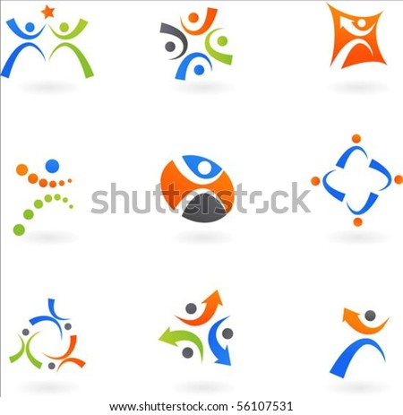 Collection of dynamic human icons