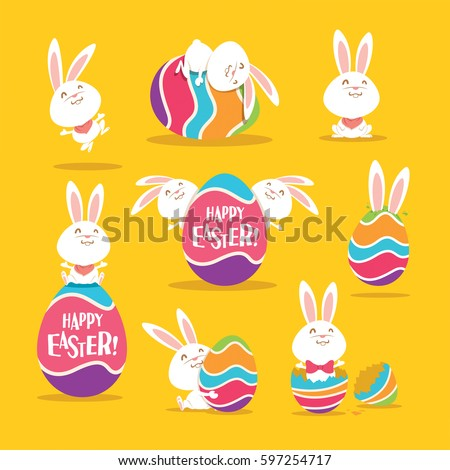 collection of easter bunny and