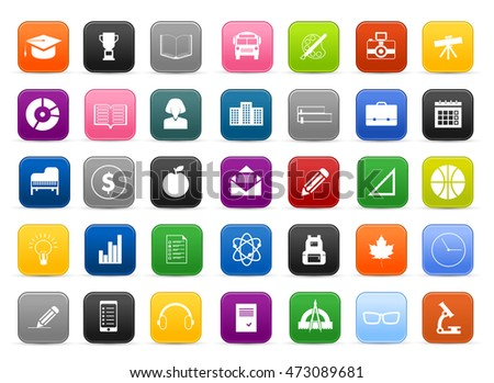 Collection of Education vector icons modern design style - school and education icons set