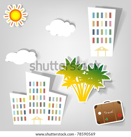collection of empty vector advertisement coupons - stock vector