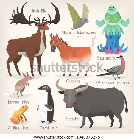 collection of extinct animals...