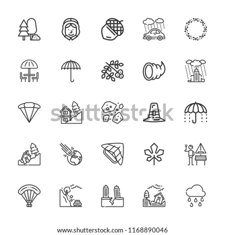collection of 25 fall outline