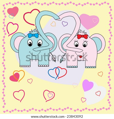 Collection of falling in love animals over cute background with hearts. To see more please visit my gallery.