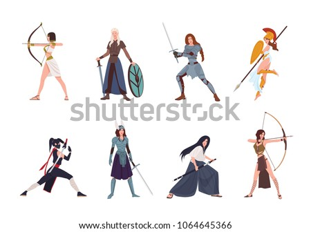 collection of female warriors