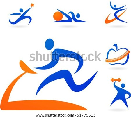 stock vector : Collection of fitness icons