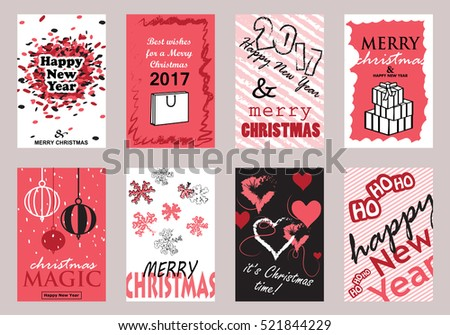 Collection of flat design greeting cardsvector illustrationhand collection of flat design greeting cardsvector illustrationhand drawn vintagemodern and m4hsunfo