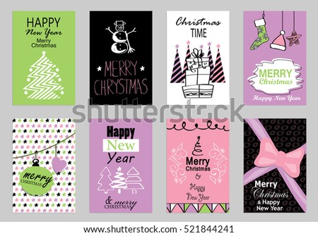 Free flat design vector winter holiday greeting card download free collection of flat design greeting cardsvector illustrationhand drawn vintagemodern and m4hsunfo