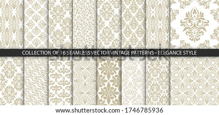 collection of 16 floral vintage