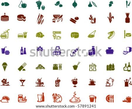 food drink symbols collection symbol vector logos shutterstock lightbox save