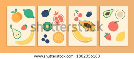 collection of four colorful