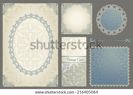 Collection of frames backgrounds invitation cards Best for wedding