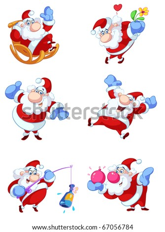 collection of fun christmas illustrations