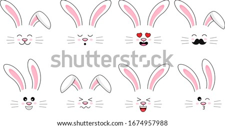 collection of funny bunnies